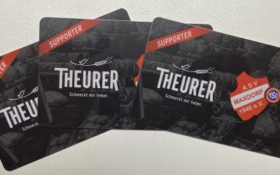 Starkes Zeichen – Firma Theurer baut Sponsoring beim ASV aus.