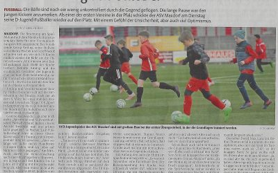 Die Rheinpfalz berichtet über die erste Trainingseinheit